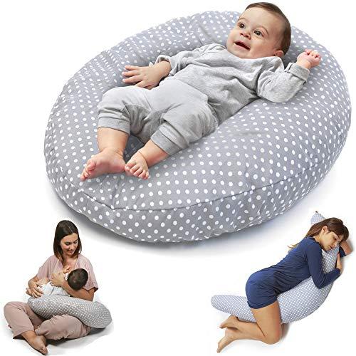 Niivetto Stillkissen Schwangerschaftskissen zum schlafen groß XXL Pregnancy Pillow erwachsene mit Bezug fur Mutter und Baby von Niimo