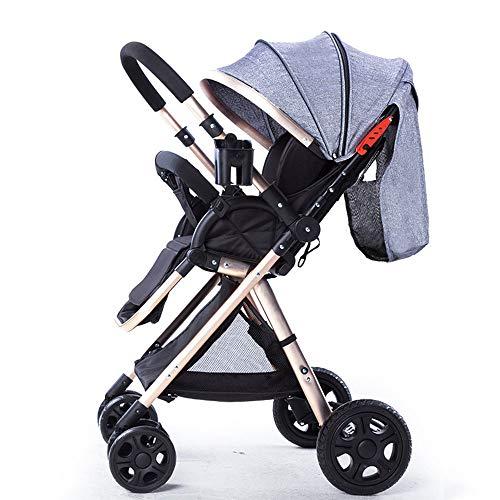 PRG Faltbarer Kinderwagen, Buggy, Reisebuggy, Kinderbuggy, Einhand-Faltmechanismus, Liegefunktion,Zwei Wege,5-Punkt-Sicherheitsgurt,für Jungen und Mädchen ab 0 Monate -3Jahre