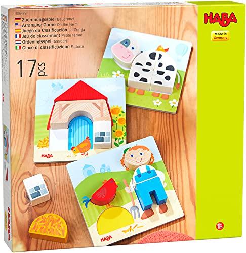 HABA Holzspielzeug zum Ordnen Kleiner Bauernhof, 18 Monate und älter, 306488, 306488, bunt