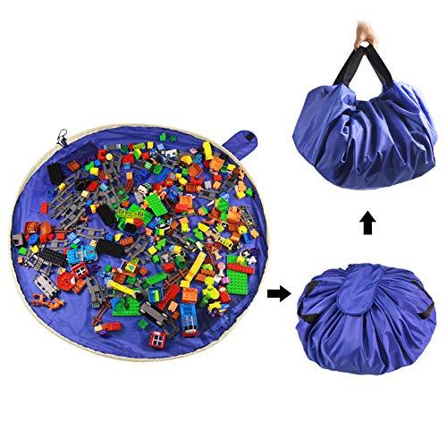 SUMBABO Spielzeug Aufraeumsack Teppich Decke Sack für Lego - Spielzeug Aufbewahrung Matte Tasche Spielmatte Sack von Kordelzug mit Kappe wie Reisetasche als Geschenk