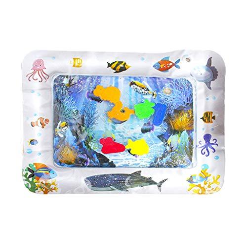 HEYWR Baby Spielzeu, Baby-Wassermatte Mat Erlebnisdecke, Krabbeldecke mit Musik und Lichtern, Spieldecke für Babys mit weichem Spielbogen