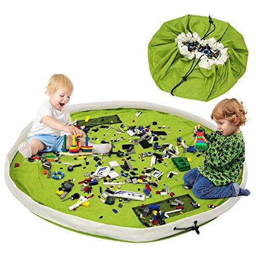 Spiel- und Aufbewahrungsmatte grün