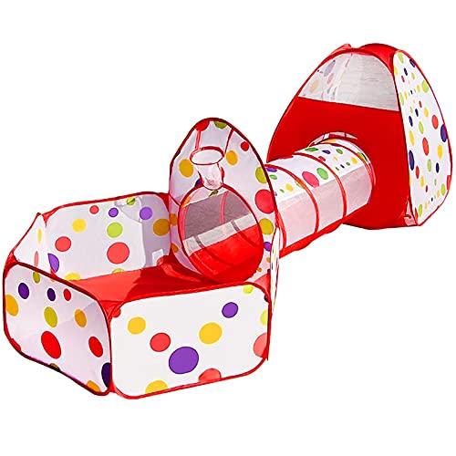 MAIKEHIGH Indoor / Outdoor Spiel-Tunnel und Spiel-Zelt Cubby-Rohr-Teepee 3 in 1 Spielplatz für Kinder Baby-Kind-Spielzeug BALL NICHT ENTHALTEN