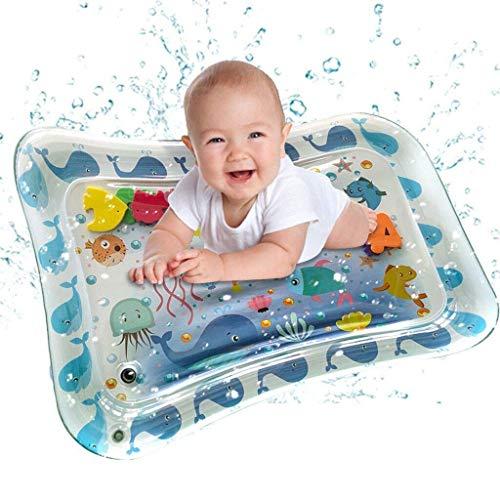 HEYWR Baby Spielzeu, Baby-Wassermatte Mat Erlebnisdecke, Krabbeldecke mit Musik und Lichtern, Spieldecke für Babys mit weichem Spielbogen, Baby Spielzeug ab 3 Monate