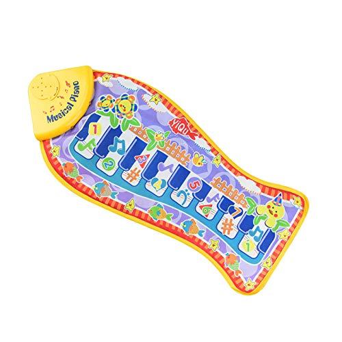 WUMOFIF Tanzmatten Multifunktionale Musikdecke Klaviermatte Keyboard Kinder Klaviertastatur Spielzeug Touch Musical Teppich mit 10 Klaviertasten Dance Mat Pad
