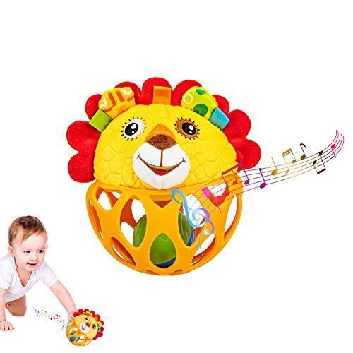 Baby Spielzeug ab 0 Monate, Löwe Rassel Baby Greifball, Greifling, Shake & Krabbel Motorikspielzeug Babyspielzeug ab 3, 6, 9, 12 Monaten