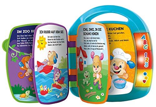 Fisher-Price CDH40 - Lernspaß Liederbuch, deutschsprachig, babyspielzeug ab 6 Monaten