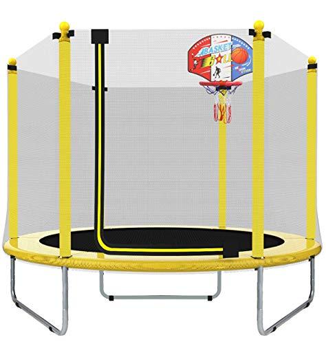LANGXUN 5FT (150cm) Indoor/Outdoor Trampolin Für Kinder/Kinder Beste Geburtstagsgeschenke Gute Übungsgeräte (φ150*H120)