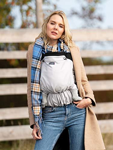 Babytrage Basics by KOKADI® Flip Grey – Babytrage ab Geburt ✓ Ergonomisch ✓ Mitwachsend ✓ Half-Buckle ✓ Bio-Baumwolle ✓ GOTS zertifiziert ✓ GRATIS Beutel (Toddler | 7-20kg)