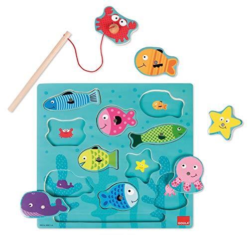 Jumbo Spiele GOULA Magnetisches Angelspielzeug - Holzspielzeug und Puzzle für Kinder ab 2 Jahren