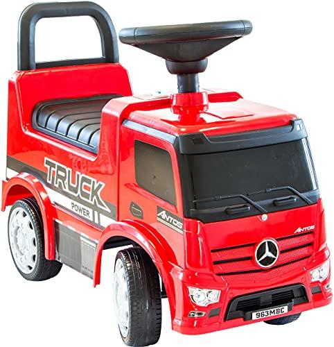 Rutscherauto Mercedes Antos, Babyrutscher mit Kunststoffrädern, Truck, LKW, Kinderfahrzeug Rutschauto