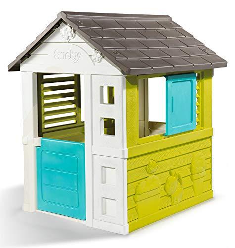 Smoby – Pretty Haus - Spielhaus für Kinder für drinnen und draußen, erweiterbar durch Zubehör, Gartenhaus für Jungen und Mädchen ab 2 Jahren