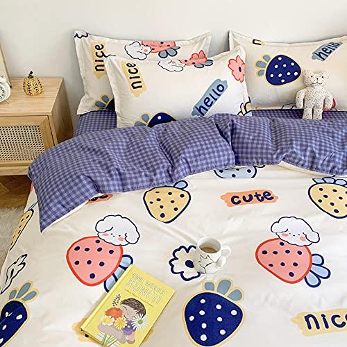 Cactuso Warm Bettbezug,Bettbedarf Baumwollmikrofasern, hochwertige mittlere Betten für Allround-Blätter für Kinder und Erwachsene-T_200 * 230 cm (79 * 91 Zoll) 4 stücke