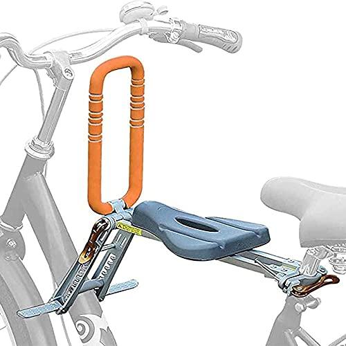 Fahrrad-Kindersitz, vorne klappbarer gebogener Balken, tragbares Fahrradzubehör, geeignet für Kinder unter 25 kg, Gelb