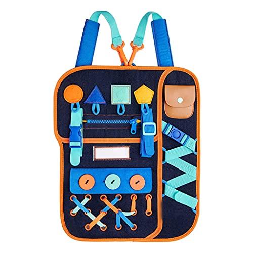 UEXCN Kleinkind Busy Board Lernen Sie Spielzeug Für 1 2 3 4 Jahre Alte Kinder Anzuziehen - Lernspielzeug Für Flugzeug- Oder Autoreisen