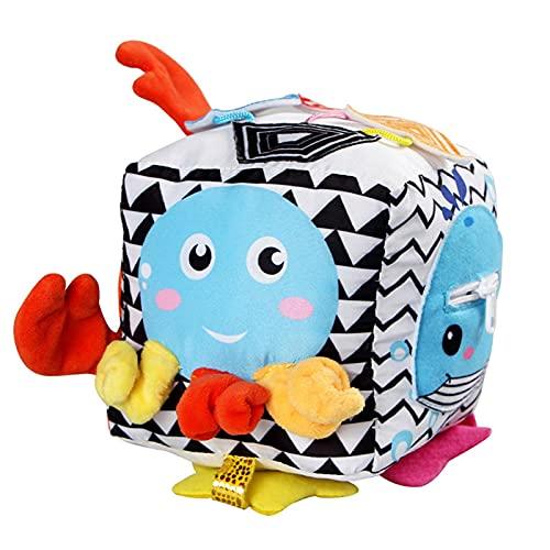 Ocobetom Musikalischer Softwürfel - Activity-Würfel mit Musik und Geräuschen, Motorikspielzeug, Baby Spielzeug ab 6 Monate,Puzzle Würfel Spielzeug Baby Bildung