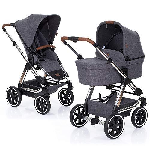 ABC Design Kombi Kinderwagen Condor 4 Air - 2in1 Set mit Babywanne und Sportwagen Buggy Aufsatz - Diamond Special Edition 2019 - Asphalt