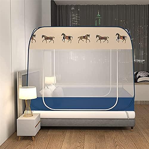 LHGXQ-Dp Pop-Up-Moskitonetz-Zeltüberdachung Für Bett, Anti-Mücken-Bettzelt Unabhängig Faltbar Großes Pop-Up-Bodennetz Outdoor-Reise Baby Erwachsener,Braun,1.8m*2.0m*1.52m