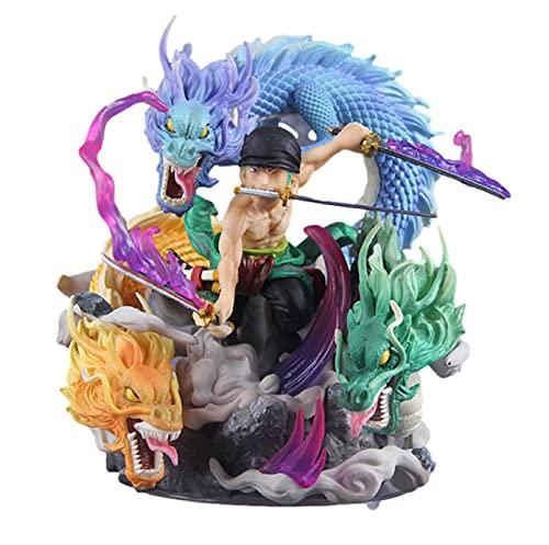 shuanglin 18Cm Einteilig Gk Serie Roronoa Zoro DREI Drachen Q Version Action Figure Sammlung Modell Ornament Spielzeug Geburtstagsgeschenke