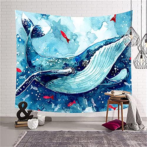 YYRAIN Blau Bedruckter Wandteppich Home Schlafzimmer Wand Hintergrund Stoff Bettwäsche Bettdecke Geschenk Wandteppich 37x28 Inch {95x73cm} B