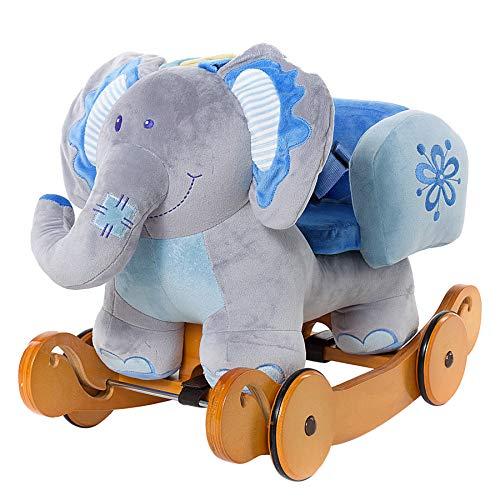 Schaukeltier Elefant mit montierbaren Rädern