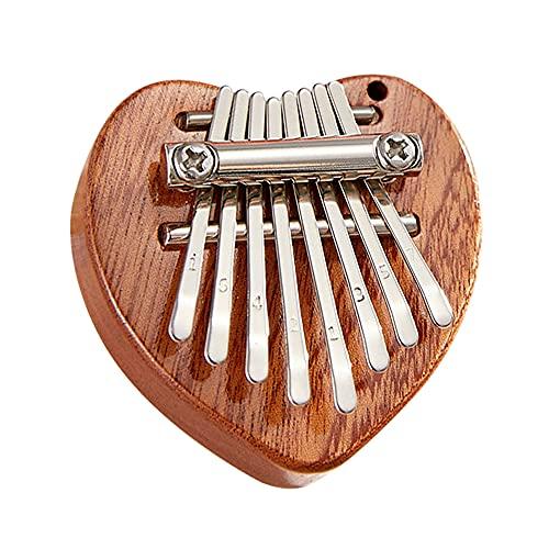 Mini Kalimba Thumb Piano, Tragbares Fingerpiano mit 8 Tasten Bestes Geschenk für Kinder, Geburtstag, Weihnachten, Anfänger, Party (B)
