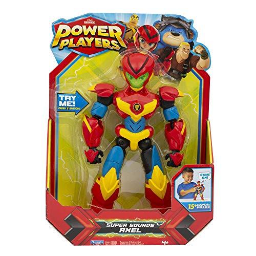 POWER PLAYERS Deluxe Elektronische Figur 22cm Axel mit Soundeffekten, 12 Gelenkpunkte, Spielzeug für Kinder ab 4 Jahren, PWW023