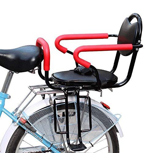 GGXX Fahrrad Kindersitz Fahrradsitz Abnehmbarer Kindersitz Elektro- / FahrradrüCksitz Mit Antirutsch- Und Leitplankenpedalen Geeignet FüR Kinder Von 2-6 Jahren (schwarz)