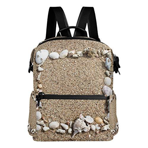 Rucksack Reisetasche Daypack Strand Sand Muschel Student Schule Buch Tasche Casual Reise Wasserdicht