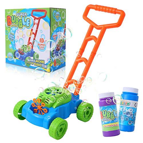 Herefun Spielzeug Kinder Bubble Rasenmäher, Seifenblasen Rasenmäher Kinderspielzeug, Blasenspielzeug Seifenblasenmaschine, Automatische Bubble Making Machine Outdoor Spielzeug Zum Schieben