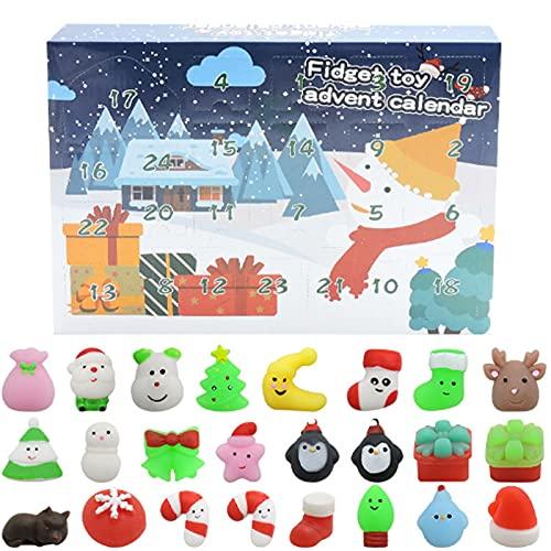 Lutyy Weihnachts Adventskalender 2021 Zappelspielzeug Set 24 Tage Weihnachts-Countdown-Kalender Wiederverwendbare Zappel Tiere Squishy Toys Überraschungs Geschenkbox Für Kinderweihnachtsparty