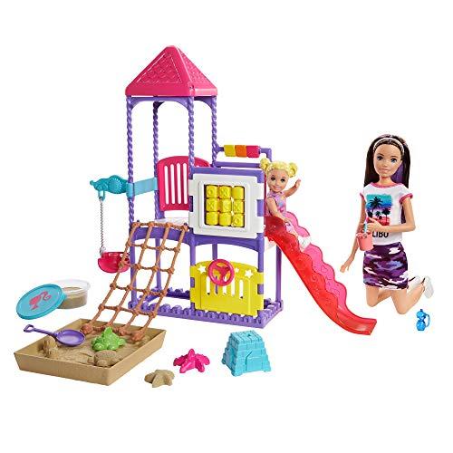 """Barbie GHV89 - """"Skipper Babysitters Inc."""" Spielplatz Spielset mit Skipper- und Kleinkind-Puppe, Spielplatz, formbaren Sand und Zubehörteilen, für Kinder von 3 bis 7 Jahren"""