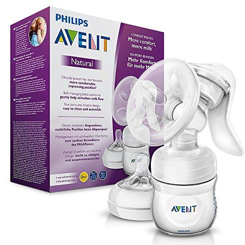 Philips Avent Komfort-Handmilchpumpe, inkl. Naturnah-Flasche, SCF330/20 transparent