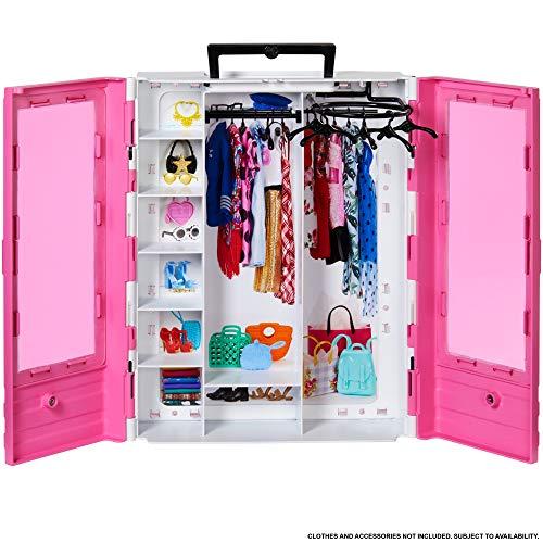 Barbie GBK11 - Traum Kleiderschrank, tragbares Modespielzeug für Kinder von 3 bis 8 Jahren