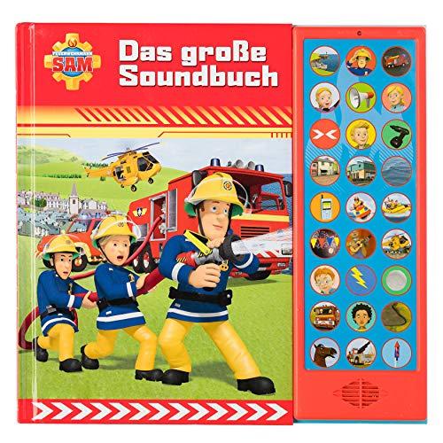 Feuerwehrmann Sam - Das große Soundbuch - 27-Button-Soundbuch mit 24 Seiten für Kinder ab 3 Jahren
