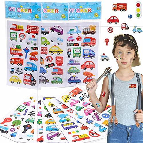 140 Sticker * AUTOS + FAHRZEUGE * als Mitgebsel, Geschenk oder zum Basteln | Auto Aufkleber zum Kindergeburtstag und Mottoparty | plus Stickerbuch