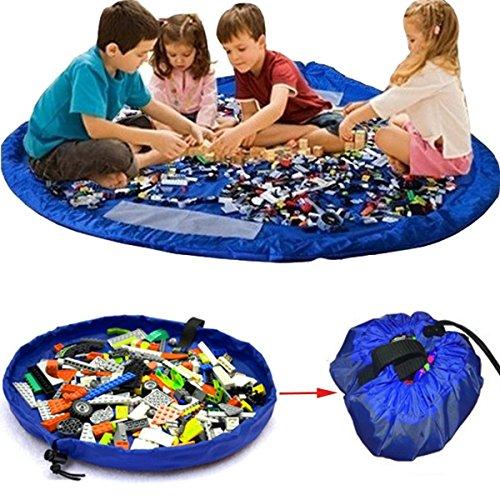 Blaue XL-Spielzeugaufbewahrung und Decke