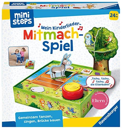 Ravensburger ministeps 4172 Mein Kinderlieder-Mitmachspiel, Lustiges Bewegungspiel mit 12 beliebten Kinderliedern, Spielzeug ab 2 Jahre
