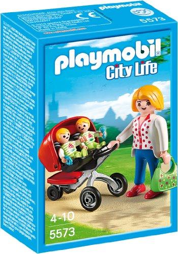 PLAYMOBIL City Life - 5573 Zwillingskinderwagen, ab 4 Jahren [Toy Award 2014]