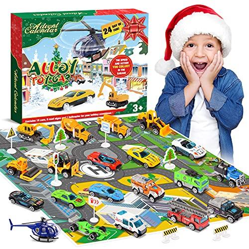 Diyfrety Spielzeug ab 2 3 4 5 6 7 Jahre, Adventskalender 2021 Kinder Auto Spielzeug Kleine Geschenk für Kinder Spielzeug Jungen Autos Spiele ab 2-7 Geschenk Mädchen 2-7 Jahre weihnachtskalender kinder