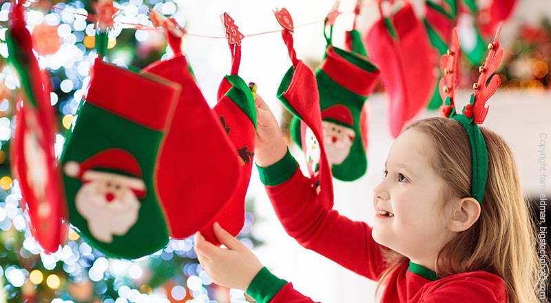 Mädchen Weihnachtskalender