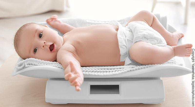 digitale Babywaage