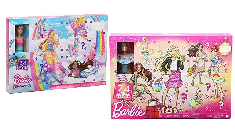 Weihnachtskalender mit Barbie Puppe und Zubehör