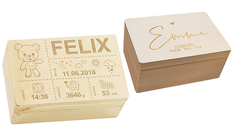personalisierte Erinnerungsbox