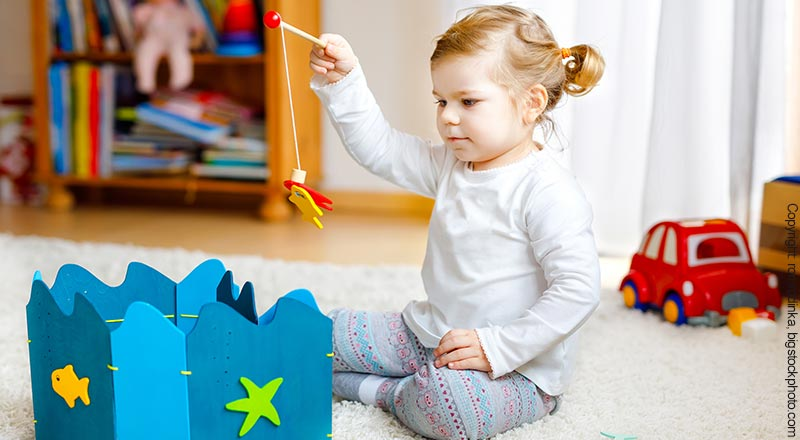 Angelspiel aus Holz für Kinder