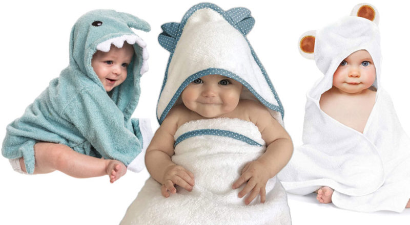 Baby Badetuch mit Kapuze