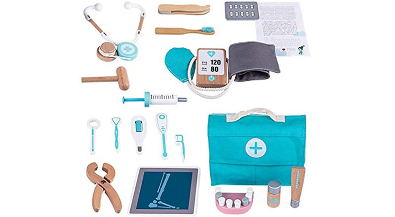 Holz-Arzttasche für Kinder