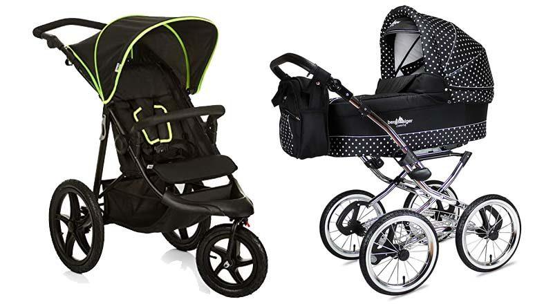 Kinderwagen mit Lufträdern