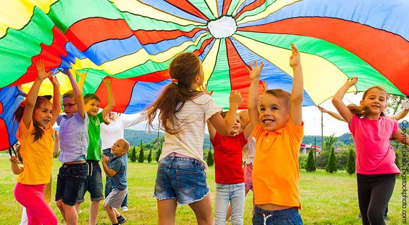 Fallschirm für Kinder