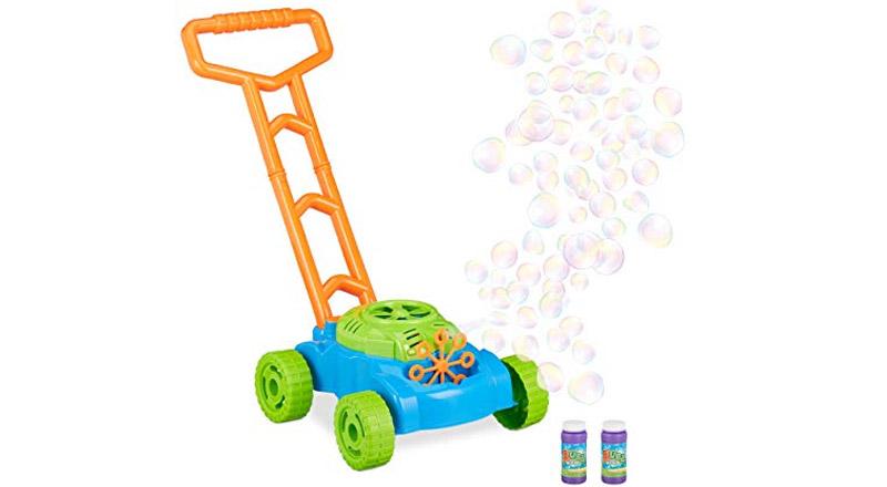Seifenblasen-Rasenmäher